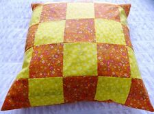 Cushion Cover & Inner Patchwork Oranges & Lemons Floor Bed Sofa Chair Bed