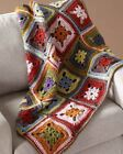 Colourful Crocheted Afghan Throw Crochet Pattern