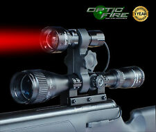 Opticfire tx-38 T38 XPE Red Zoom Portata PISTOLA LIGHT LAMPING Caccia Aria Fucile Torcia