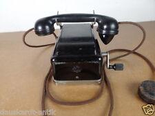 ANTIQUARIATO Nero Telefono con Manovella in Metallo warzawa