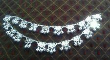 Beautiful Indian Bollywood Bridal Silver Plated Anklet Jhanjar,Payal