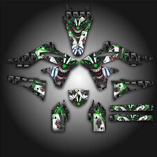 KAWASAKI KX250F KXF 250 2013 GRAPHICS KIT DECALS EVIL JOKER BLACK GREEN