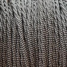 Blanco Y Negro Trenzado Trenzado Tejido Cable 3: núcleo de 0,5 mm para la iluminación (Cable Textil)