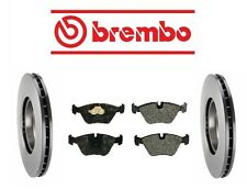 Jaguar XJ8 2001-2003 Front Brake KIT Disc Rotors & Pad Set Brembo/Mintex