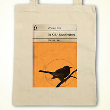 Vintage Penguin To kill a Mocking Bird Book Cover eco friendly cotton Tote Bag