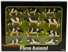 Kids Globe Pack Of 12 Lying/Standing Cows 1:32 Scale