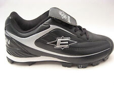 Easton Mens Redline II Low Baseball & Softball Cleats Shoes 8 Black Silver NEW