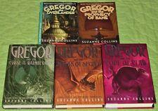 GREGOR THE OVERLANDER COMPLETE SET #1-5~SUZANNE COLLINS~UNDERLAND CHRONICLES LOT
