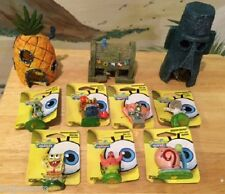 SPONGEBOB & FRIENDS & HOUSES 10 PC AQUARIUM SET *US SELLER* DECORATION ORNAMENTS