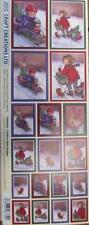 Self Adhesive Sticker Christmas Children With Sleds