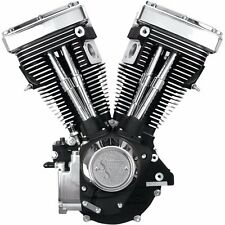 "Black & Chrome S&S 80"" 1340cc Evolution Evo V80 Long Block Motor Engine 310-0233"