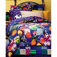 SPORTS THEME BOYS BEDDING SET TWIN SIZE comforter sheets bed in a bag room kids