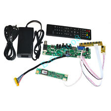 HDMI+USB+VGA+AV+TV LCD Controller Board Kits +12V 4A Power supply DIY LCD Panels