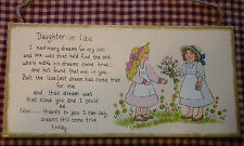 """Inspirational Country Plaque """"Daughter in Law"""" Poem"""