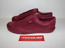 New WTAPS Vans Vault OG Style 36 LX Burgundy Red Casual Shoes era Size 12