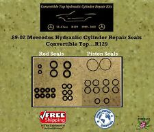 89-02 Mercedes Hydraulic Cylinder Rod & Piston Repair Seals Convertible Top R129