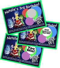 INSIDE OUT PERSONLIZED SCRATCH OFF OFFS PARTY GAME GAMES CARDS BIRTHDAY FAVORS