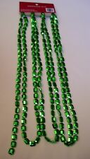 9 FT EMERALD GREEN BEAD GARLAND CHRISTMAS MARDI GRAS ST.PATRICK DAY DECORATION