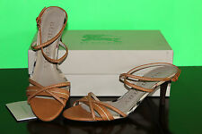 BURBERRY KITTEN HEEL CHECK SANDAL  #11us $450
