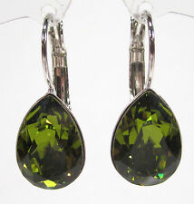 SoHo® Ohrhänger Ohrringe geschliffene Kristalle tropfen olivine grün olive drop