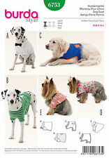 BURDA SEWING PATTERN! MAKE SMALL~LARGE DOG COATS~CLOTHES! 5 STYLES! 3 SIZES!