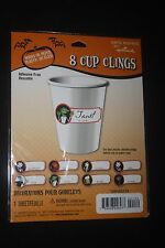 PARTY EXPRESS BY HALLMARK 8CT HALLOWEEN CUP CLINGS FOR PAPER/PLASTIC OR GLASS