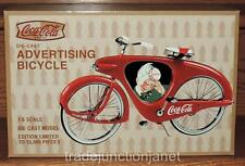 "NOS HTF COCA-COLA XONEX 1:6 LE DIE-CAST SPRITE BOY ""ADVERTISING BICYCLE"" w/BOX"