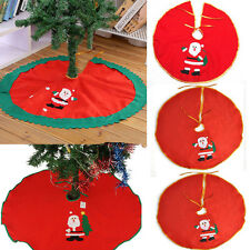 Xmas Santa Claus Snowman Christmas Tree Skirt Stands Ornaments Party Decoration