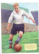 Tom Finney Preston North End 1946-1960 Rara Original Firmada A Mano Imagen De Corte