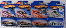 X4-HOT WHEELS 2010 10/10 HW RACING FORD MUSTANG FUNNY CAR FACTORY SET