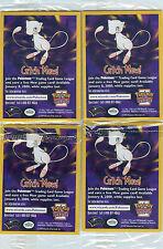 Pokemon Set Completo De 4 Tarjetas de película 1999 sin abrir de promoción