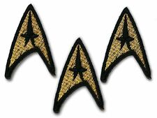 STAR TREK - Set of THREE x Classic Gold Command Crew Insignia Patches...1.75""