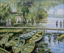 Hand Painted Oil Painting Repro Claude Monet Bathers at La Grenouillere 20x24in