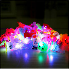 10pcs/lot Cute Kids Child LED Light Up Flashing Finger Rings Glow Party Favor8O7