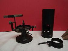 MICROSCOPE (MICROSCOPE LAMP) GAS (H. F. ANGUS & CO LONDON) FINE CONDITION (RARE)