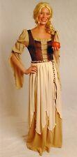 Burgfräulein Magd Mittelalter LARP Damen-Kostüm Kleid mit Schürze Corsage 36/38