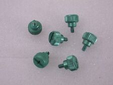 Lot of Computer Case Thumbscrews Green Handscrews PC Hardware 6 pieces ^