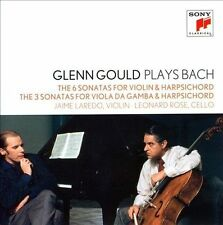 GLENN GOULD Plays Bach Sonatas For Violin & Harpsichord/Viola Da Gamba 2CD NEW