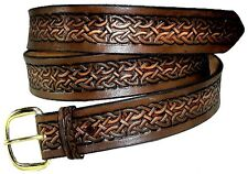 Celtic Medieval Renaissance Casual Heavy Duty Work Leather Belt w Buckle USA