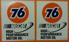 "2 pcs Union 76 NASCAR High Performance Motor Oil racing decals stickers 5"" X 6.2"