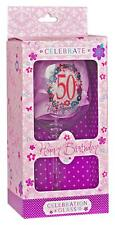 50th Birthday Wine Glass Present Gift Party Favour In Presentation Box