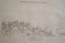 GRAVURE SUR CUIVRE NAPOLEON BATAILLE DE RIVOLI 1822 TARDIEU VERNET