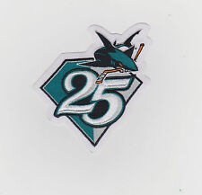 SAN JOSE SHARKS 25TH ANNIVERSARY JERSEY PATCH
