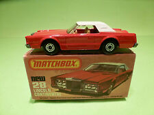 MATCHBOX NEW 28 - LINCOLN CONTINENTAL   - NEAR MINT CONDITION -  IN ORGINAL BOX