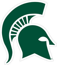 MSU MICHIGAN STATE UNIVERSITY Large Vinyl Spartan Decal