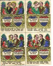 Wiener Billet Bildchen Andacht Biedermeier Freundschaft