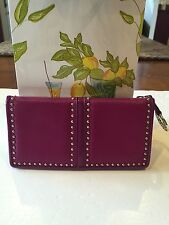 BRIGHTON NWT PRETTY TOUGH FUSHCIA PURPLE LEATHER WALLET