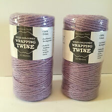 100Meters Solid Coloured Thick Cotton Twine Wrapping Strings Wedding Party Decor
