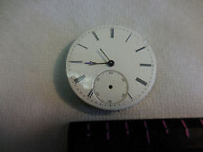 ANTIQUE FRENCH A.  NICOUD POCKET WATCH FACE W/ MOVEMENT, 1880'S may work?
