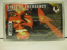 State Of Emergency Society In Crisis Vol. 1 Cassette Tape SEALED Ice-T Rap Hip H